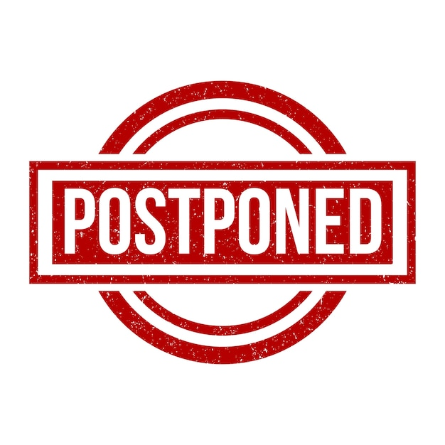 Postponed rubber stamp concept Free Vector
