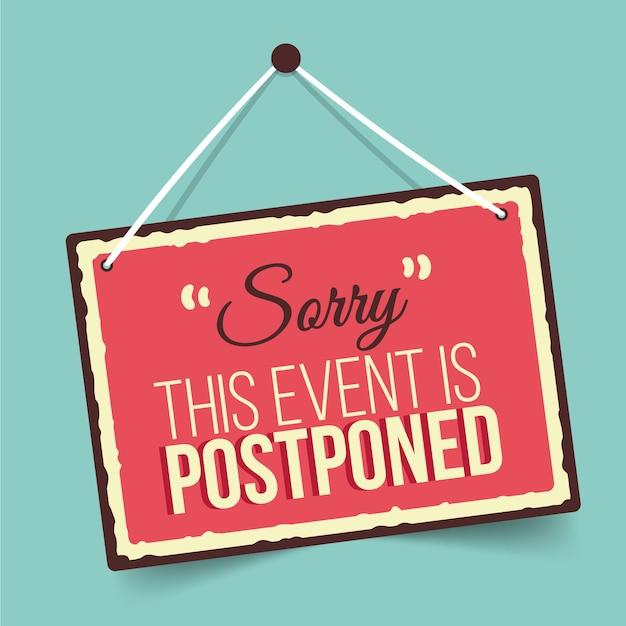 Postponed sign Free Vector
