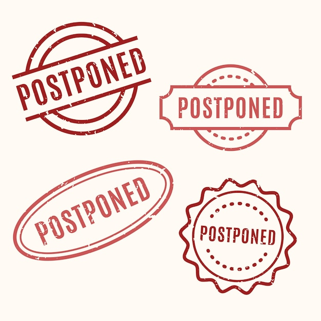 Postponed stamp collection Free Vector
