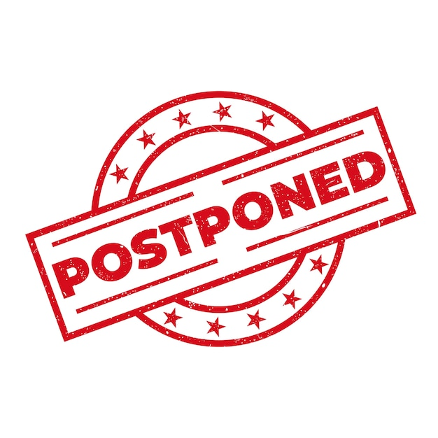 Postponed stamp sign theme Free Vector