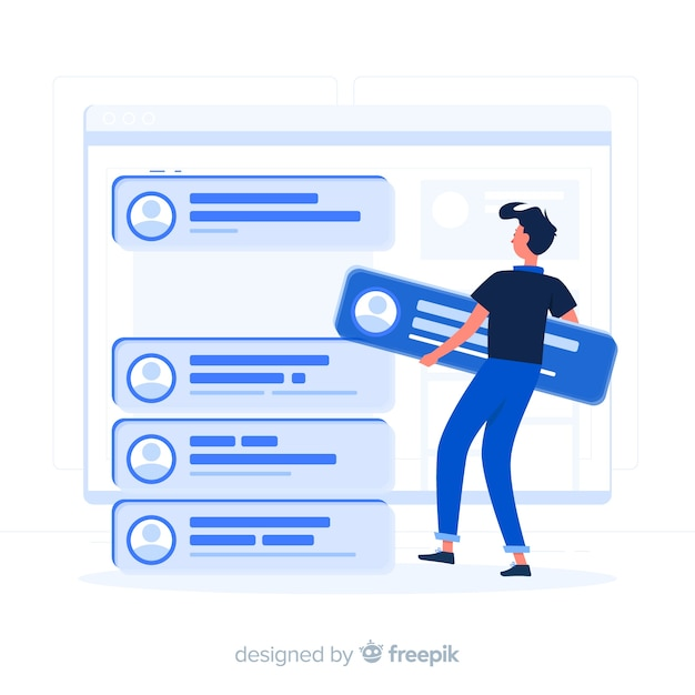 Posts concept illustration Free Vector