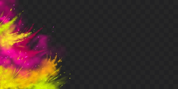 Powder holi paints frame, border solated Free Vector
