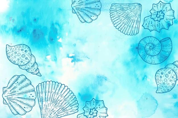 Порошок пастельных фон с рисованной элементами Бесплатные векторы