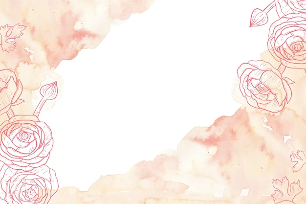Powder pastel wallpaper draw Premium Vector