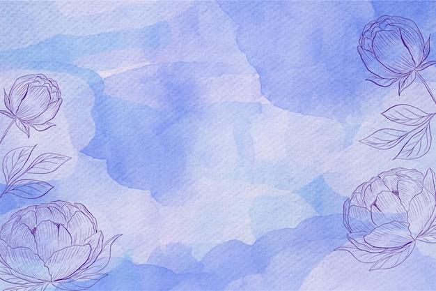 パウダーパステル水彩背景スタイル 無料ベクター