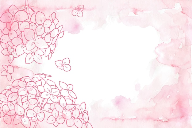 Powder pastel with hand drawn elements background Free Vector