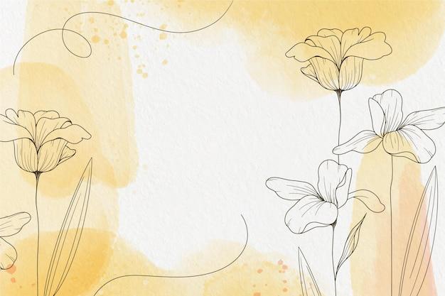 手描きの要素の背景を持つパウダーパステル 無料ベクター