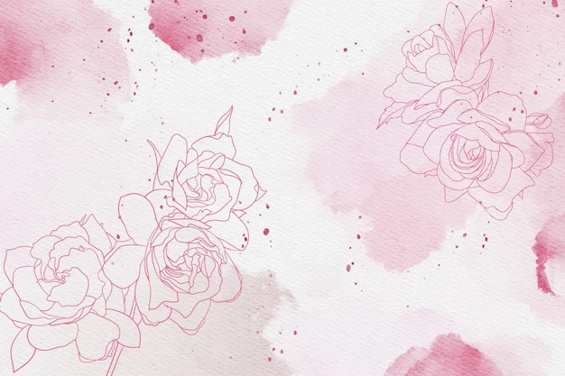Powder pastel with hand drawn elements wallpaper Free Vector