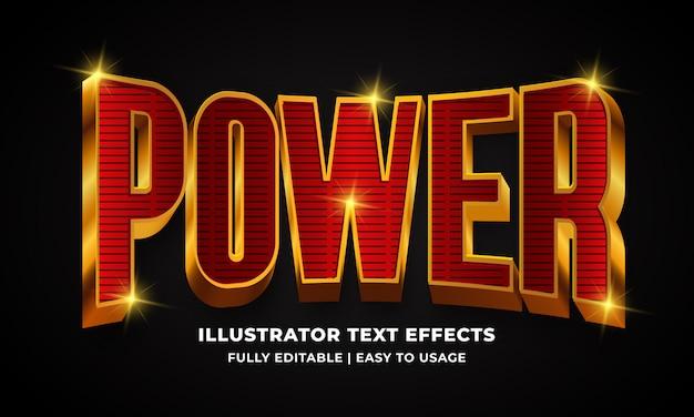 Power 3d text style effect Premium векторы