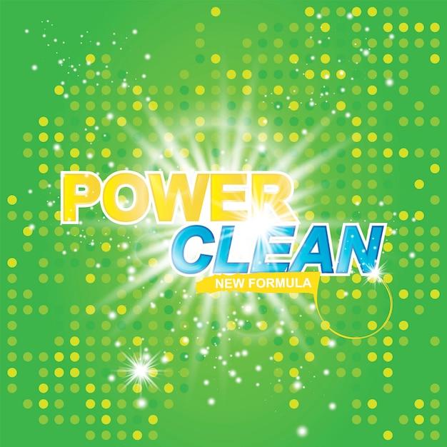 Power clean on light effect Premium Vector