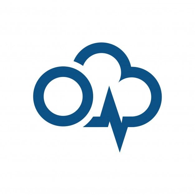 Power Cloud Energy Logo Design And Lightning Sign Premium Vector