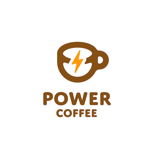 Power coffee logo Vector   Premium Download