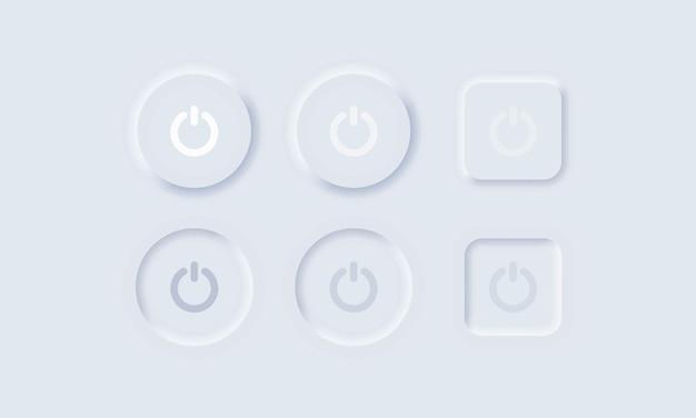 ユーザーインターフェイスの電源をオンオフします Premiumベクター