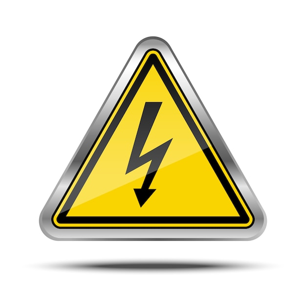 Power outage metal sign Premium Vector