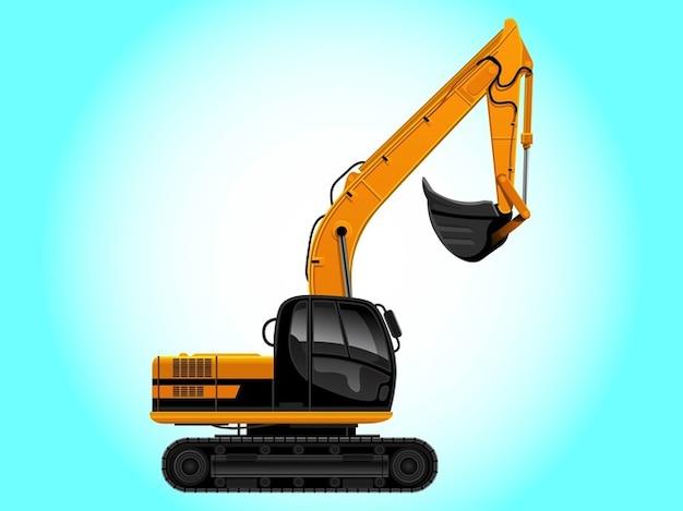 Power shovel building architecture\ vector