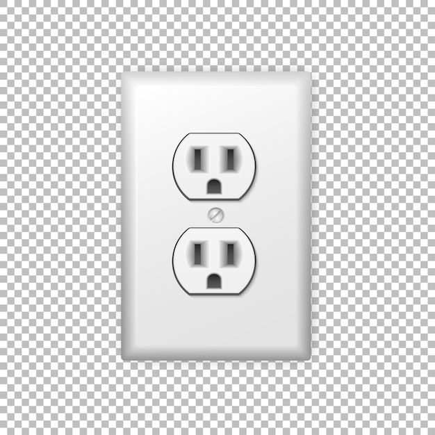 Power socket Premium Vector