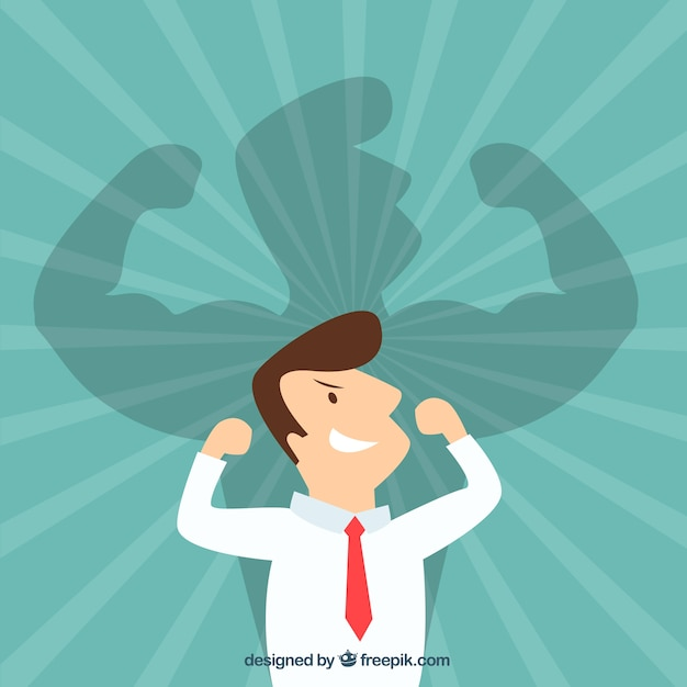Powerful businessman Free Vector