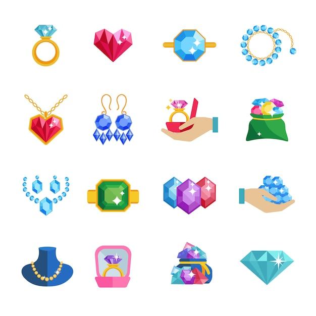 Precious jewels Free Vector