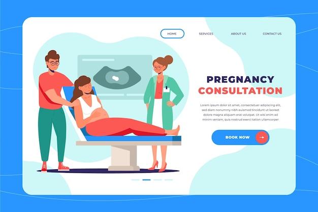 Modello di pagina di destinazione per la consultazione della gravidanza Vettore gratuito