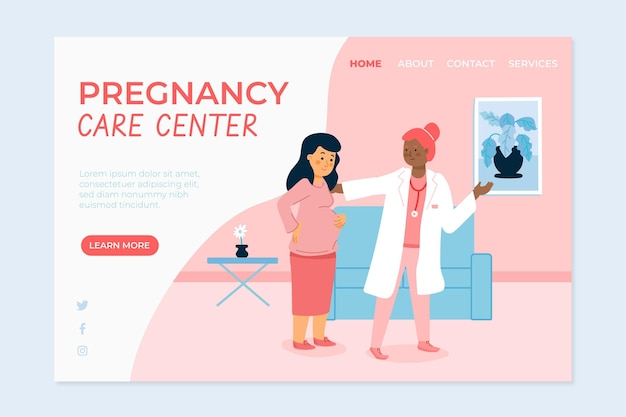 Pregnancy consultation - landing page Free Vector