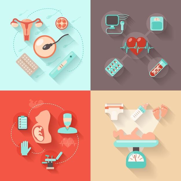 Pregnancy design concept Free Vector