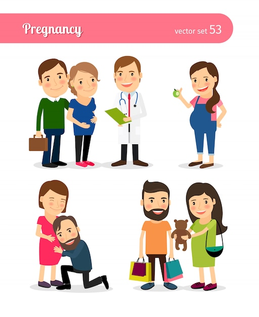 Pregnancy Premium Vector