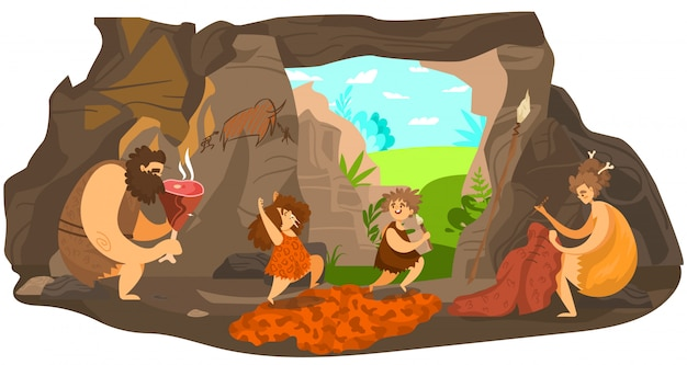 prehistoric-people-family-happy-primitive-children-playing-stone-age-parents-live-in-cave-illustration_169479-311.jpg