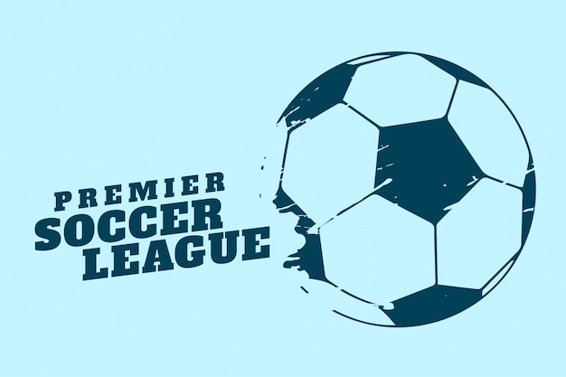 Premier soccer or football tournament background Free Vector