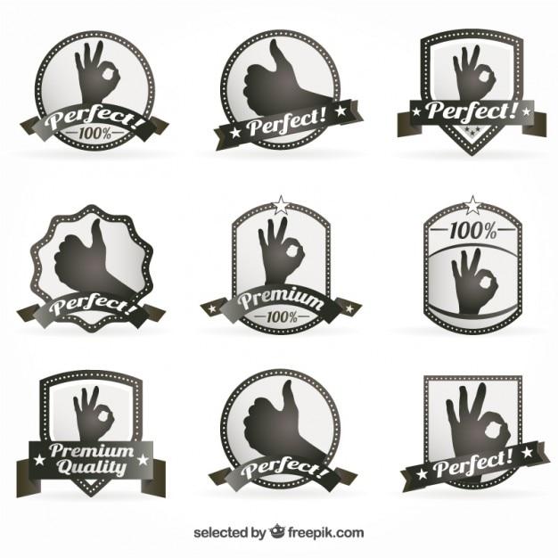 Premium badges Free Vector