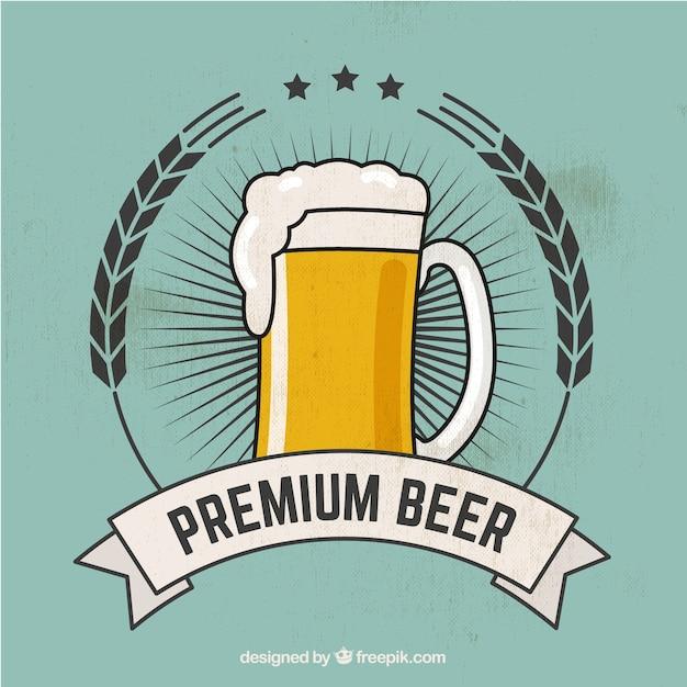 premium beer Free Vector