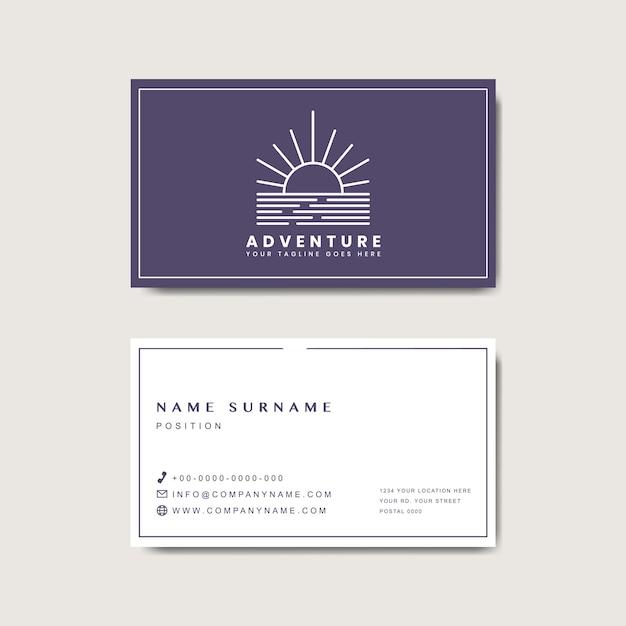Premium business card design mockup Free Vector