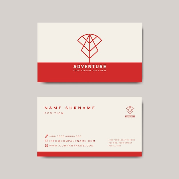 Premium business card design mockup Free Vector