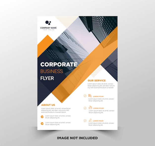 Premium business flyer template Premium Vector