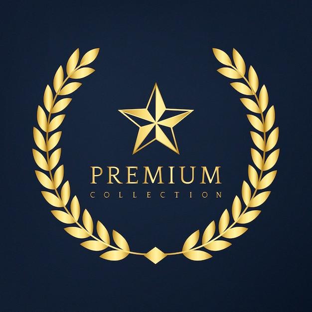 Premium collection badge design Free Vector