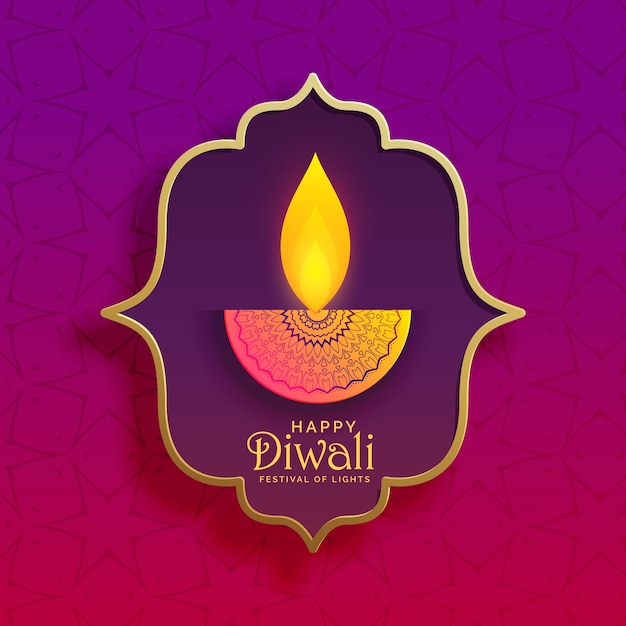 premium creative diwali diya vector background Free Vector
