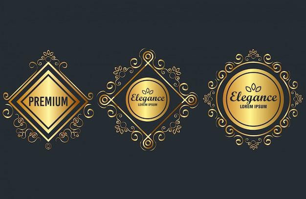 Premium and elegance set frames Free Vector