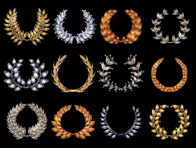 Set di ghirlande eleganti premium Vettore gratuito
