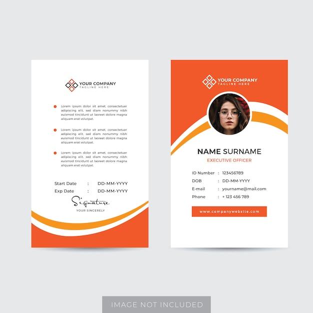 Premium Vector Premium Employee Id Card Template Vector