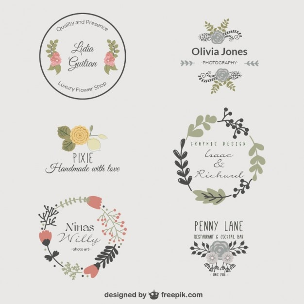 Premium Floral Logo Templates Vector Free Download