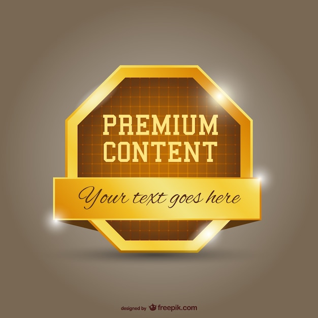 Premium gold content Free Vector
