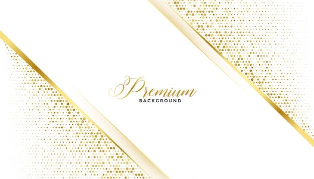 Premium golden glitter background royal design Free Vector