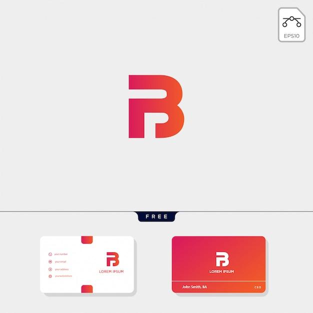Premium initial b, bb, 13, 3, or eb outline creative logo template, business card Premium Vector