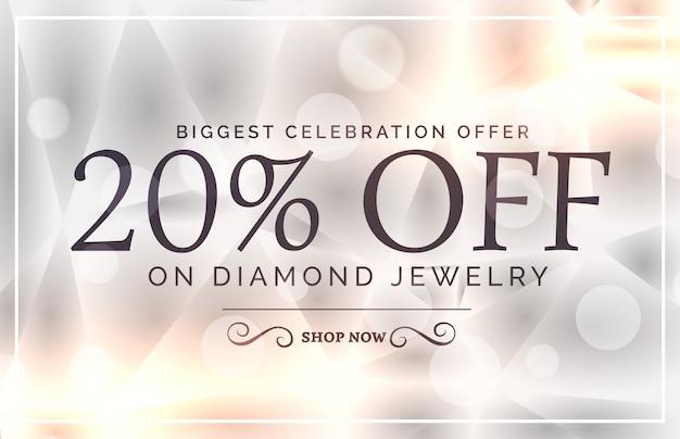 premium jewelry style sale banner vector template Premium Vector