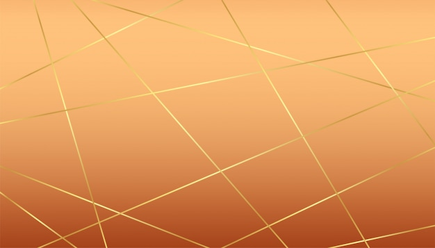 Premium luxury background with golden lines and pastel backdrop Free Vector
