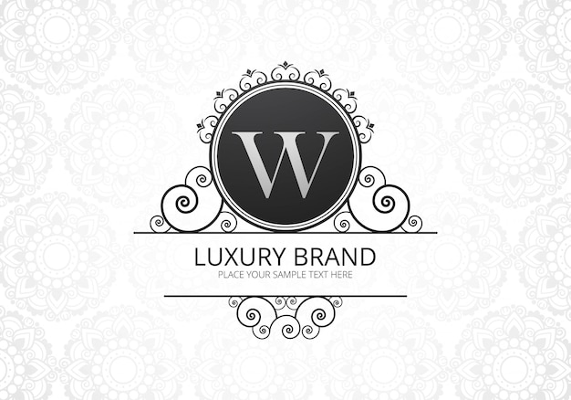 Premium luxury creative letter w logo for company Free Vector