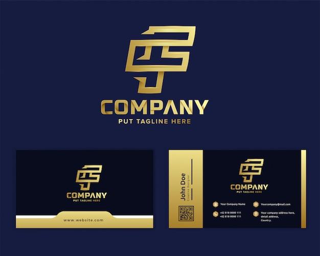 ビジネス立ち上げと会社のためのプレミアム高級レターの最初のfロゴ Premiumベクター