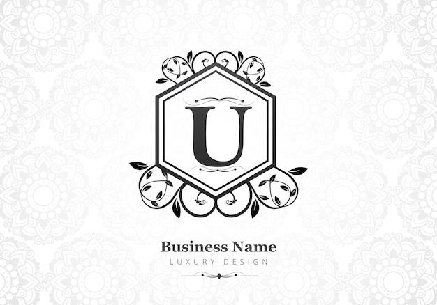 Logo della lettera u di lusso premium per l'azienda Vettore gratuito