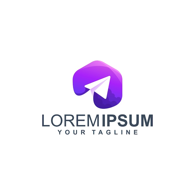 プレミアムパープルプレーンロゴ Premiumベクター