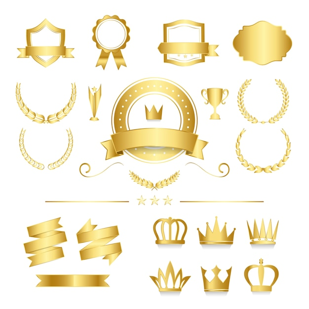 Premium quality badge and banner collection vectors Vector