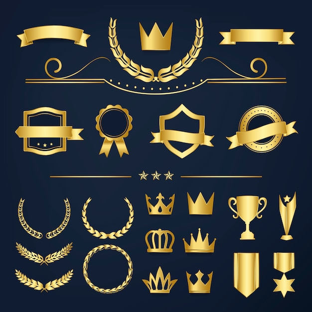 Premium quality badge and banner collection Free Vector